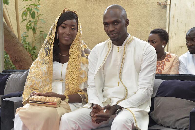 Les deux mariés Mohamed Dione Junior et Mme