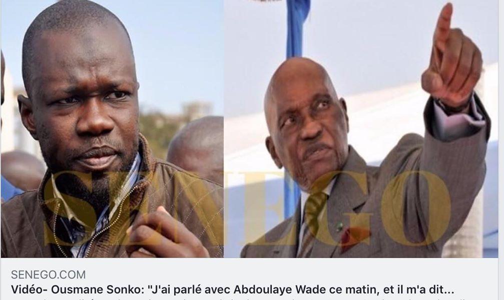 Présidentielle 2019 : Sonko et Wade face à la presse à 21h