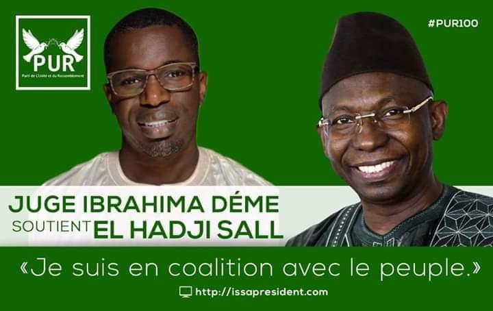 Urgent - Le Juge Ibrahima Hamidou Deme soutient Issa Sall du PUR
