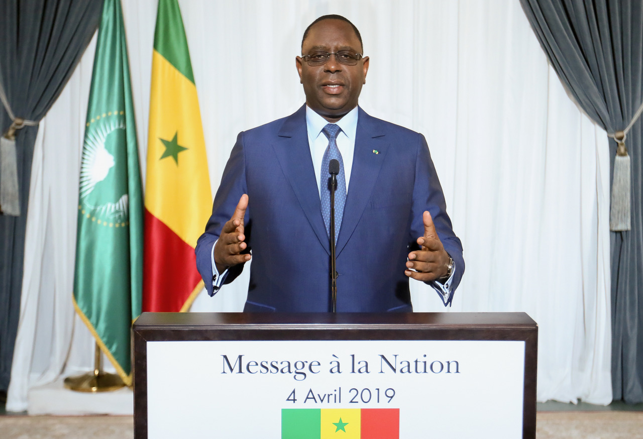 MESSAGE A LA NATION   DE SON EXCELLENCE MONSIEUR LE PRESIDENT MACKY SALL