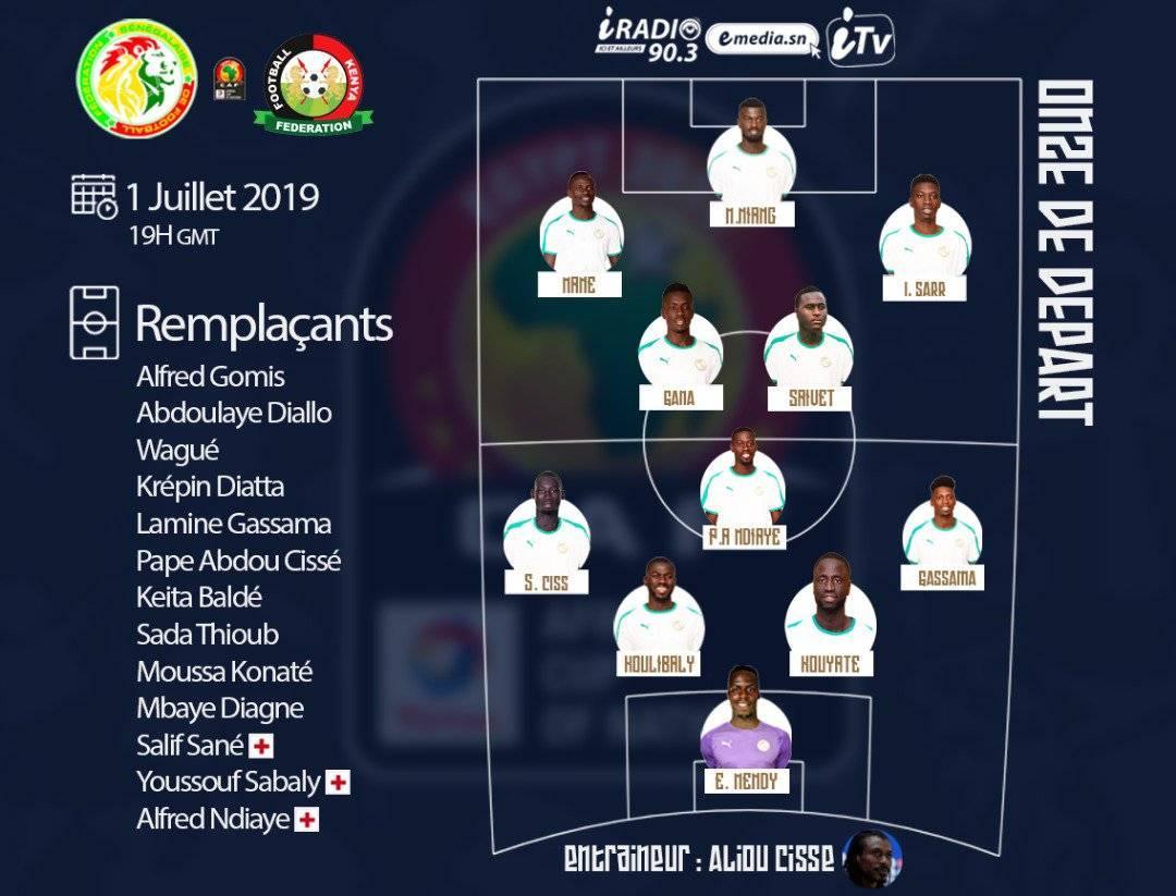 Sénégal-Kenya : Aliou Cissé opère cinq changements dans son Onze de départ