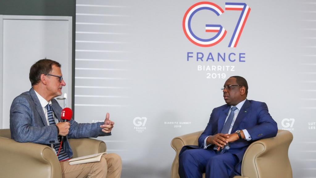 Macky Sall sur RFI: «Nos préoccupations seront prises en compte [au G7]»