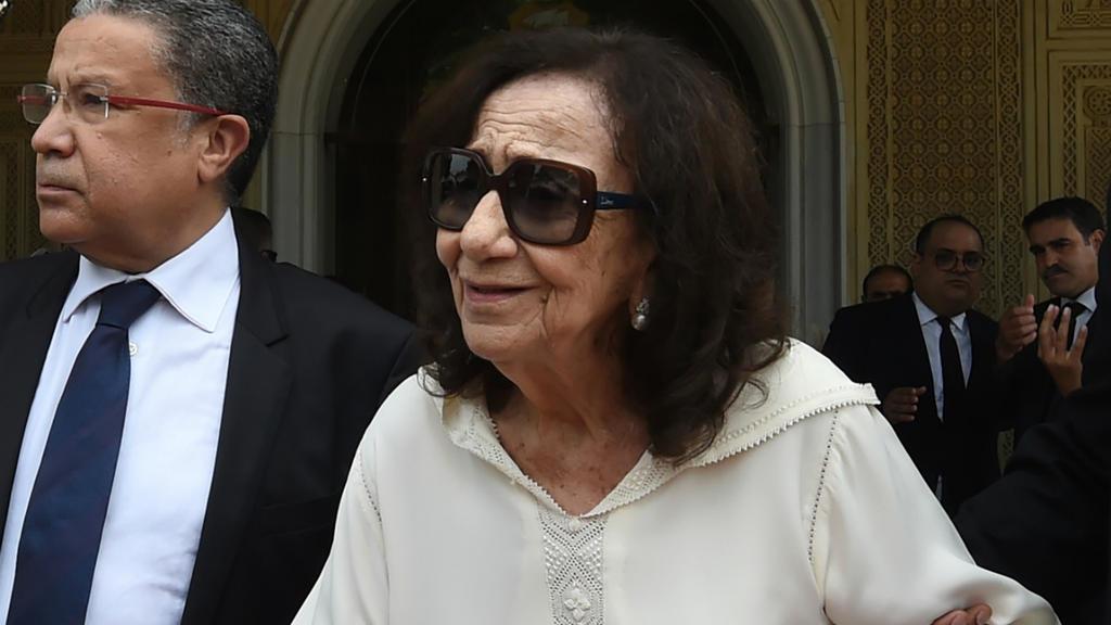 Chadlia Caïd Essebsi, les 27 juillet 2019, lors des funérailles de son époux, Béji Caïd Essebsi