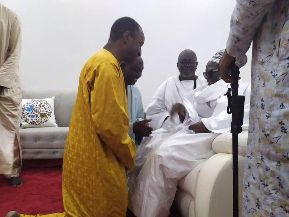 Adama Gaye reçu par Serigne Mountakha