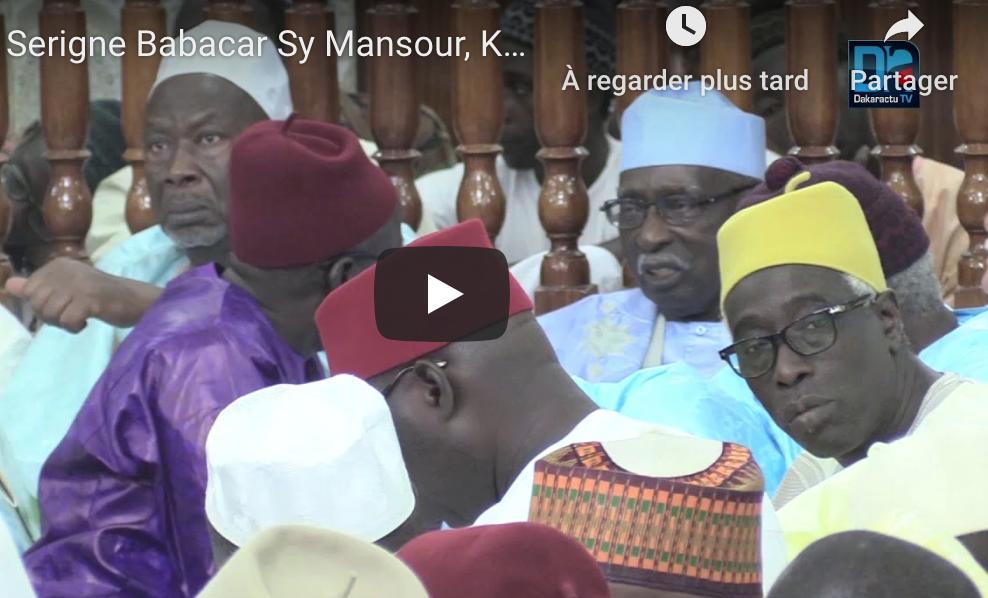 Serigne Babacar Sy Mansour, Khalif général des tidianes : « Le Coran est infalsifiable »