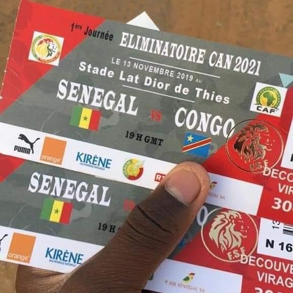 Éliminatoires CAN 2021 / Sénégal – Congo Brazzaville: Grave erreur de la Fédération de Football sur les billets d'entrée!