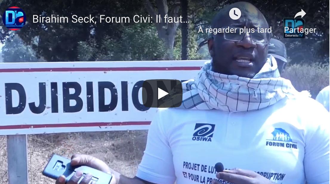 Birahime Seck : « Il y a un besoin énorme. Il faut que l'État lutte contre les inégalités et l'équité pour que la territorialité soit une réalité »