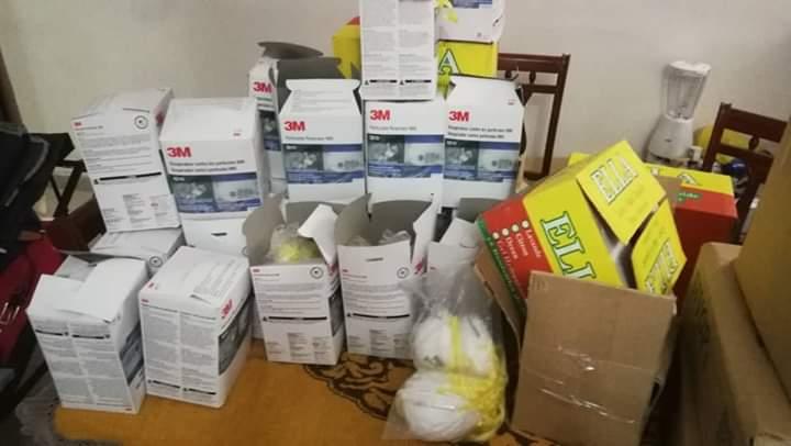 L'Alliance pour la Paix et le Developpement et la Coalition Adiana que dirige le ministre Thierno lo participe à Guerre contre le CORONAVIRUS  en donnant du materiel pour la protection.
