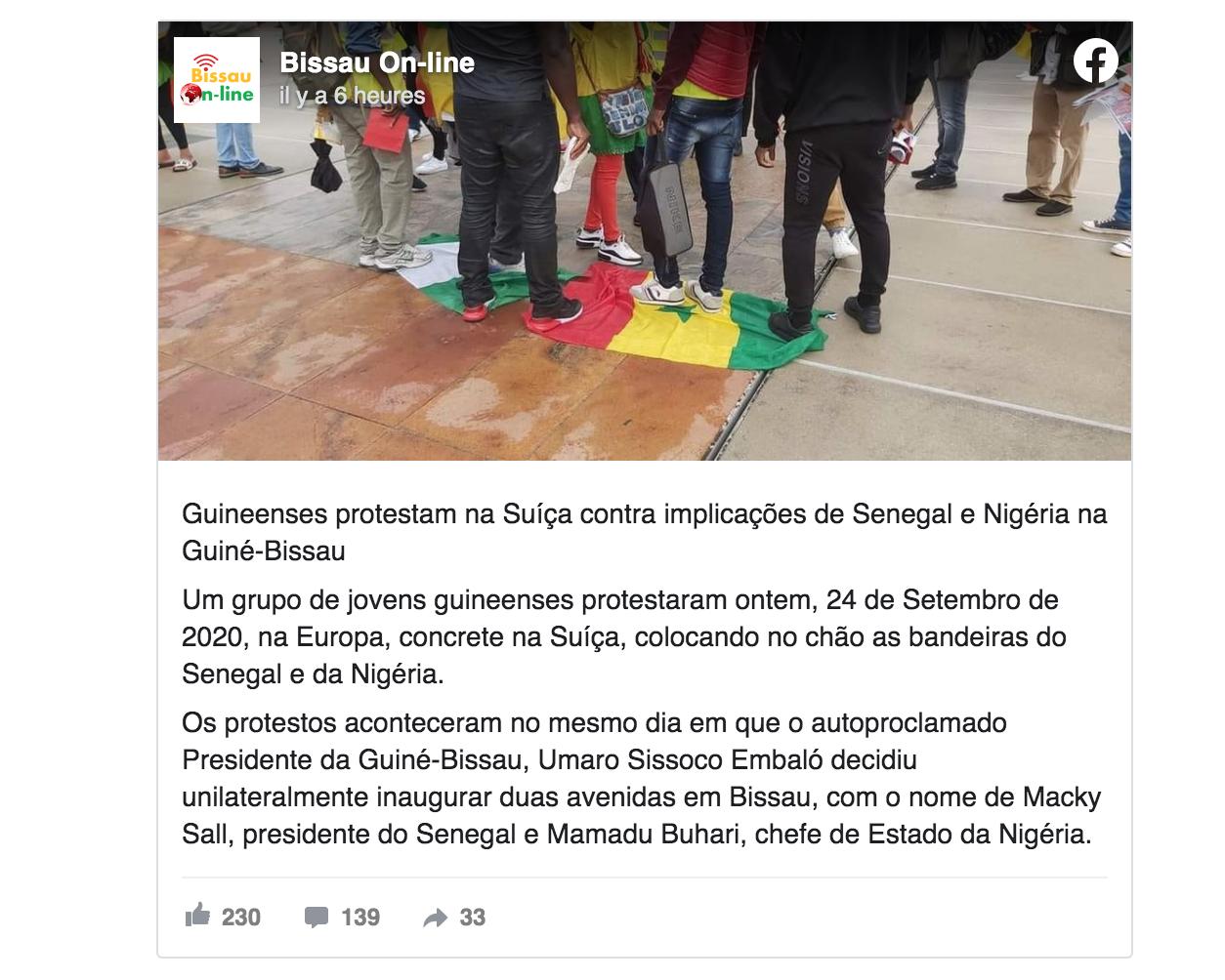 """""""Avenues Macky Sall et Buhari"""": Les Bissau Guinéens protestent et piétinent les drapeaux du Sénégal et..."""