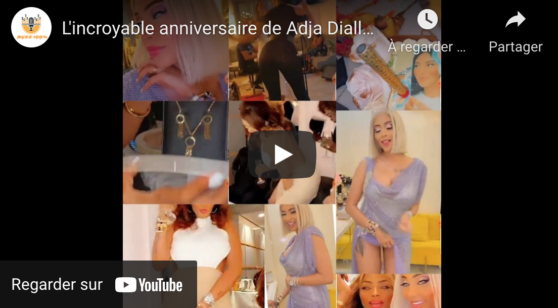 Adja Diallo fête son anniversaire en grande pompe (Vidéo)