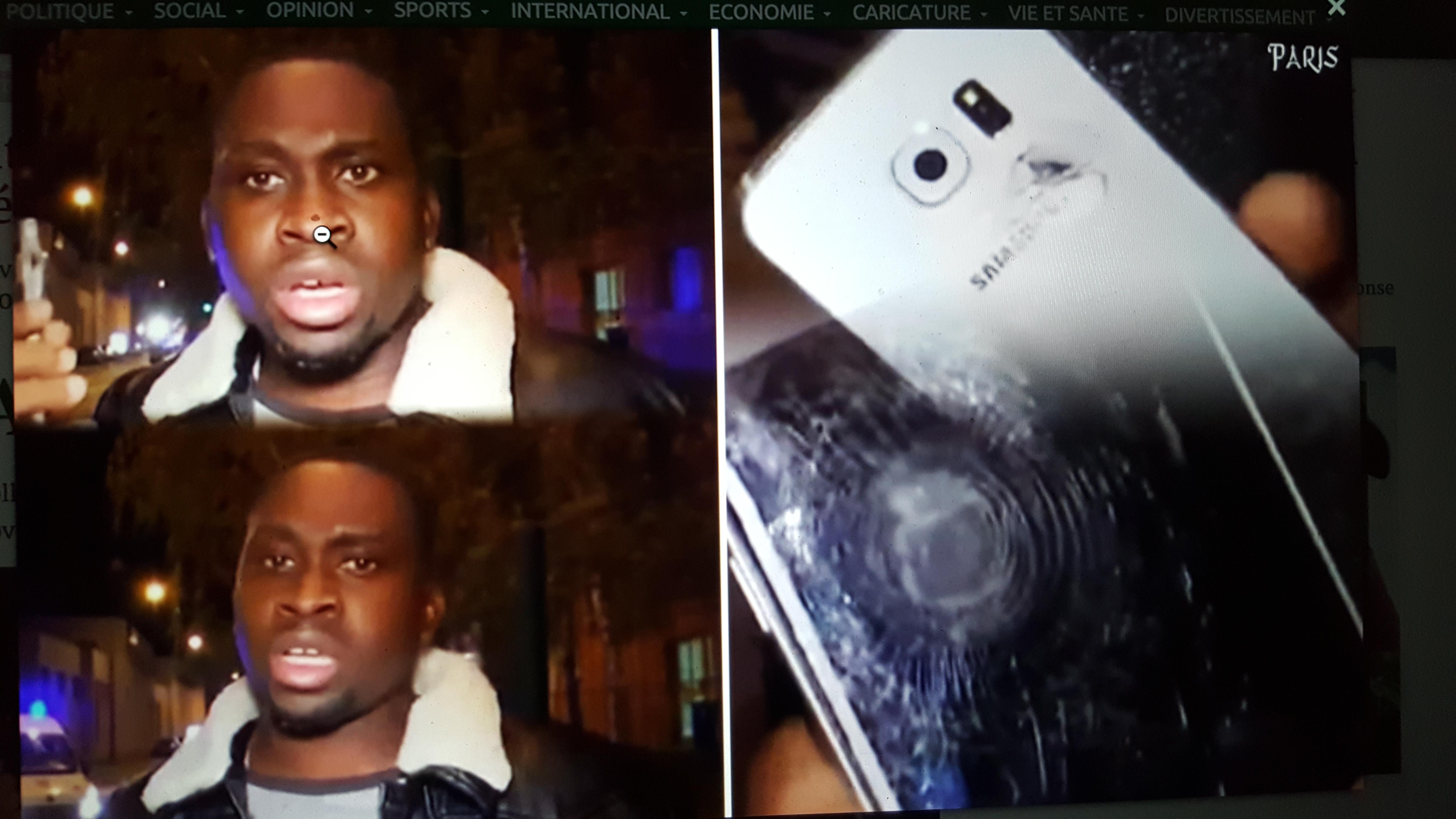 Comment un  Gabonais a  échappé à la mort lors du carnage à Paris, sauvé par son téléphone