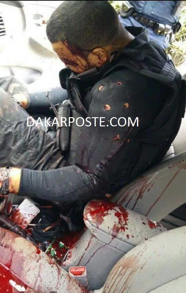 Exclusif dakarposte! L'un des terroristes, criblé de balles par la police Francaise, suite au carnage du vendredi 13 novembre 2015.