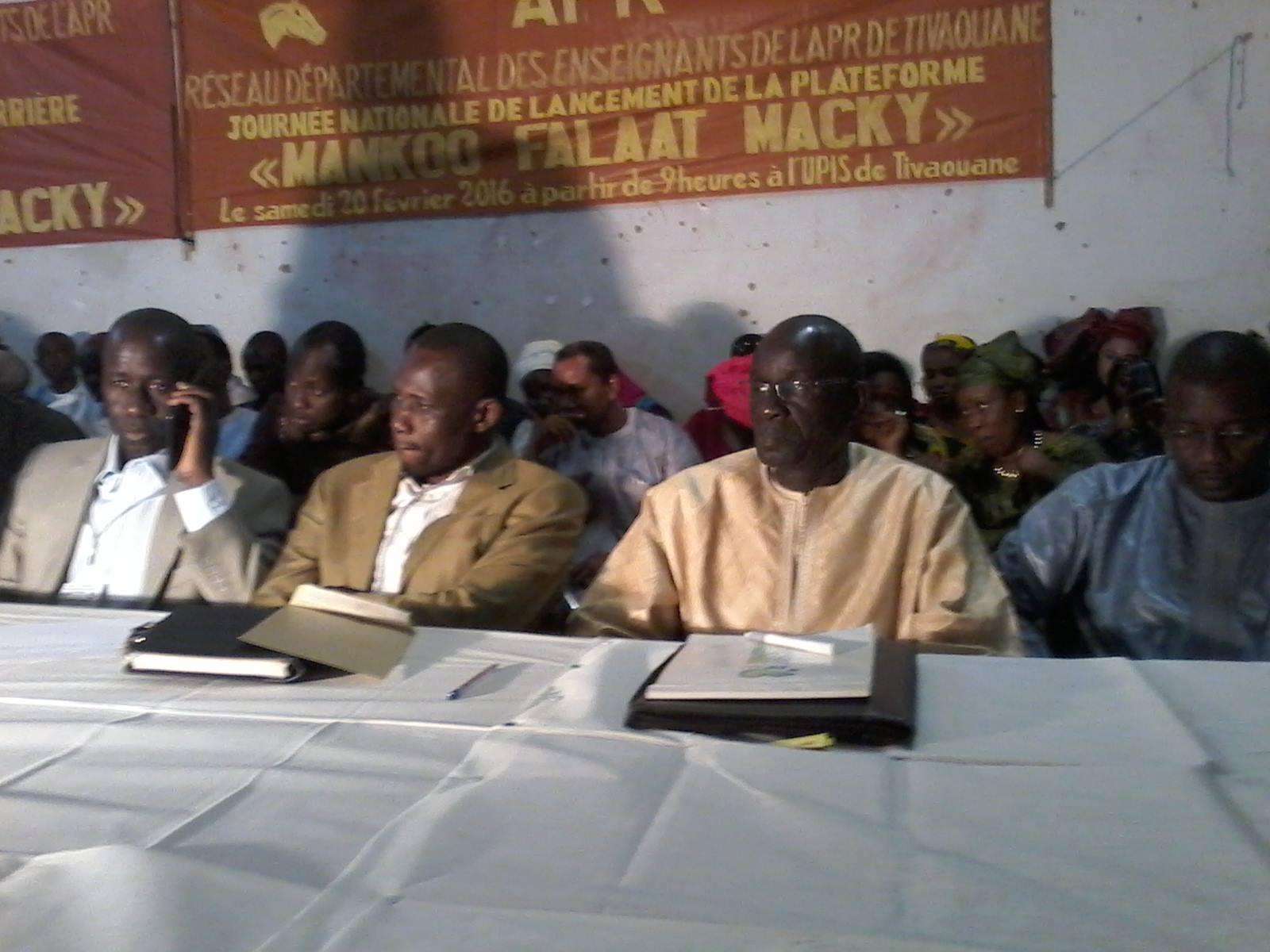 Serigne Mboup à la  Plateforme Mankoo Falaat Macky