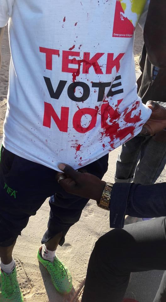 Encore les démons  de la violence qui tapent à l'incruste dans cette campagne au référendum!
