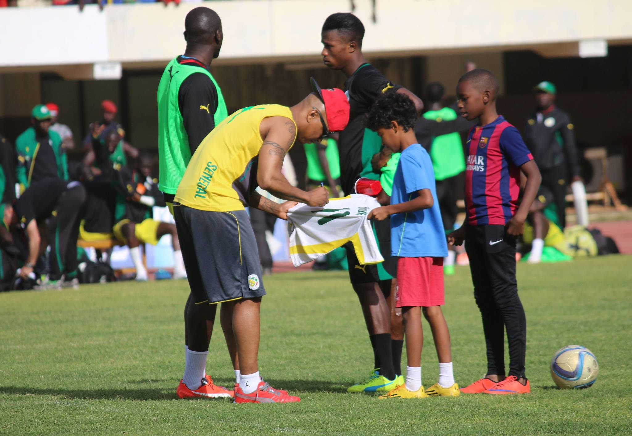 """Elhaj Diouf, star à l'entrainement des """"Lions"""""""