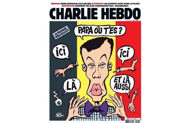 Encore Charlie Hebdo qui s'illustre tristement!            Le canard s'attaque au chanteur belge Stromae... La famille de l'artiste choquée