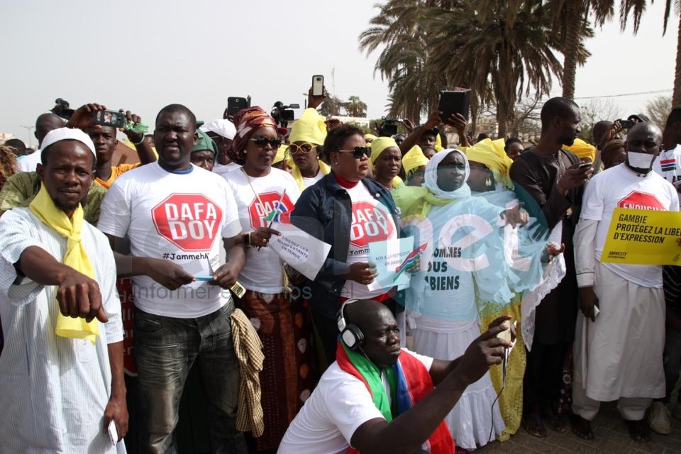 Manifestation à Dakar contre le régime de Yaya Jammeh (images)