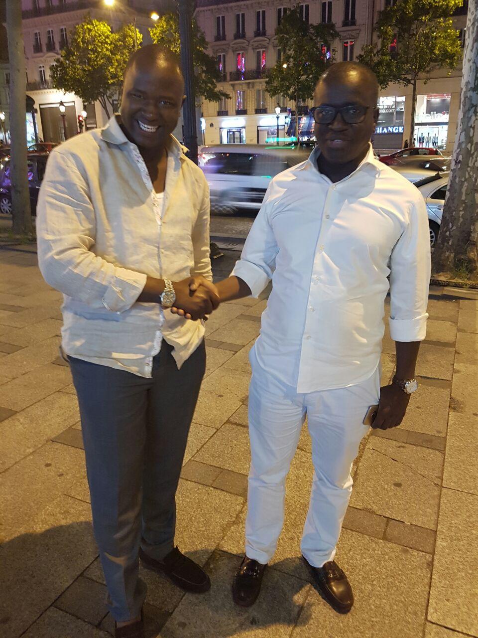 Cheikh FALL en tenue blanche