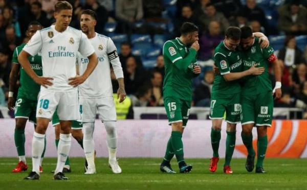 Le Real Madrid battu à domicile et éliminé par Leganés en quarts de finale de la Coupe du Roi