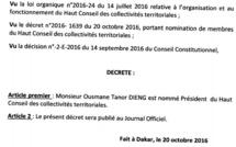 Tout sur le HCCT (décrets signés par le Pr, membres ...)