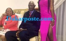Le Pr Abdou Diouf et Mme en compagnie d'une de leur petite fille !