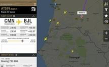 Un avion de la Royal Air Maroc en route pour Banjul