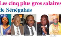 Les cinq plus gros salaires de Sénégalais