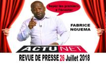Revue de presse de Fabrice Nguéma du 26 juillet