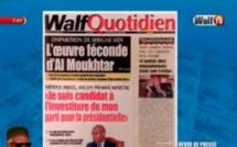 Revue de presse (Français) Walf TV du Jeudi 09 août 2018