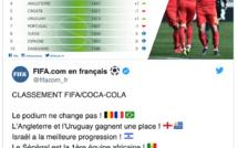 Classement FIFA : la Belgique garde la tête, le Sénégal 23 éme mondial et toujours en tête en Afrique