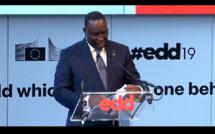 """JED2019 Bruxelles: le president Macky Sall donne """"un cours"""" sur sa strategie de reduction des inegalites sur le PSE et """"vend"""" le Senegal!(video)"""