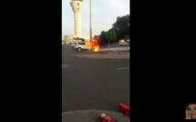 KAWTEF A L'AIDB - UNE VOITURE EXPLOSE DEVANT L'AÉROPORT (VIDEO)