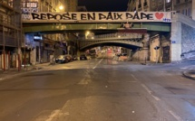 OM : une banderole en hommage à Pape Diouf à Marseille