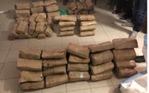 Sandiara: Saisie de 106 kg de drogue par la gendarmerie