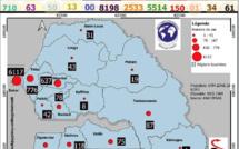 COVID-19/CARTE GEO CONSULTING SERVICES Total des cas recensés par région (à la date du 13 juillet)