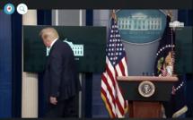 Trump évacué par le Secret Service en pleine conférence de presse - vidéo