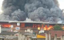 Pikine : Incendie au marché Zinc