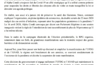 GUINÉE/MANIFESTATION DU 25 NOVEMBRE Cellou Dalein Diallo et Cie ne lâchent rien
