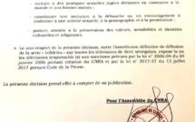 """Voici la décision portant interdiction de diffusion de la bande annonce de la saison 3 de la série """"Infidèles"""""""